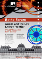 Axions and the Low Energy Frontier Poster